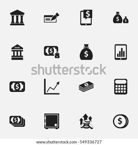 Set Of 16 Editable Investment Icons. Includes Symbols Such As Treasure, Banknote, Salary And More. Can Be Used For Web, Mobile, UI And Infographic Design.