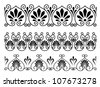 Set of floral vintage embellishments for ornate and decoration. Vector version also available in gallery - stock photo