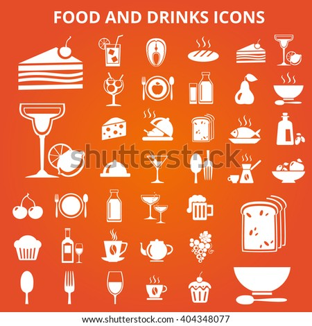 food drink icons icon illustration vector beverage shutterstock