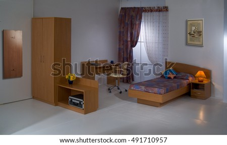 Set of home furniture on a studio background