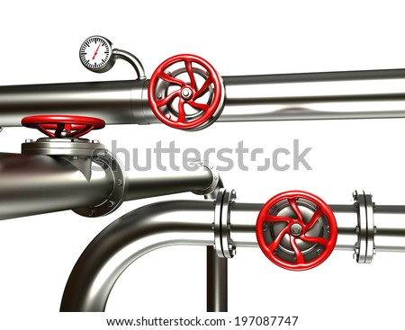 Set of industrial pipes