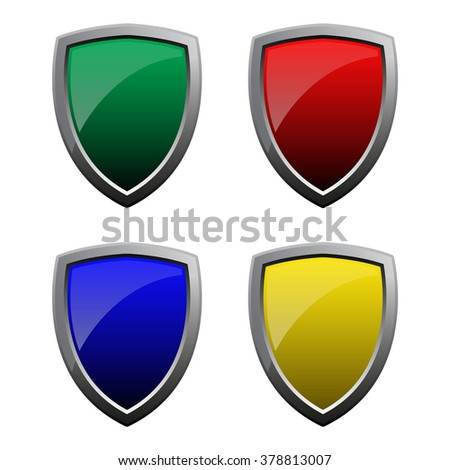 set of medieval shields