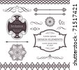 Set of ornate vector frames, ornaments and dividers. Perfect to embellish your designs, invitations, or announcements. - stock vector
