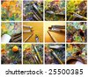 Set of painting - stock photo