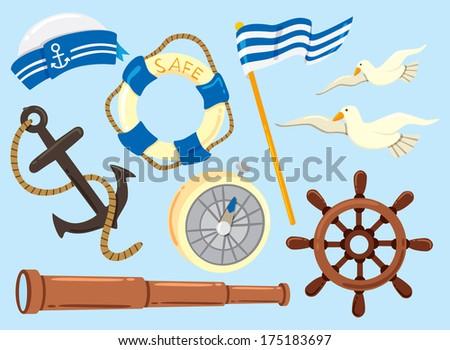 Life Ring And Anchor Seaman Symbol
