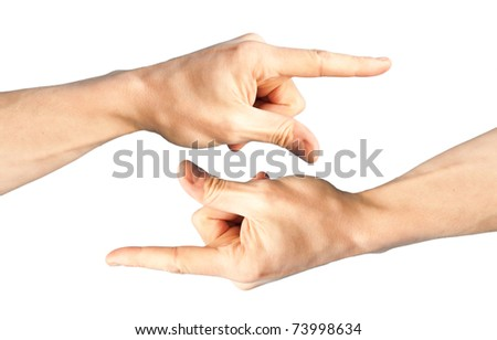 Set of two hands with pointing finger