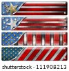 Set of USA Grunge Flags Four USA grungy metal flag with clipping path - stock photo