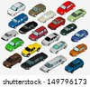 Set of Various Isolated 3d Cars - stock