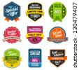 Set of vector sales labels and sticker graphics - stock photo