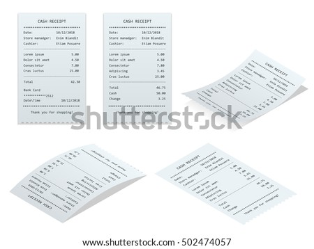 Invoice Prices On Cars Word Receipt Paper Bill Reciept Invoice Receipt Stock Vector   Make Your Own Invoices Word with Moving Receipt Template Excel Set Paper Check And Financial Check Isolated Small Receipt Printer Pdf