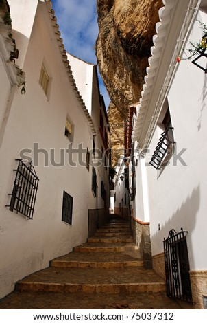 Setenil Village in Spain, unique for it's houses being built even today by carving into the mountain.