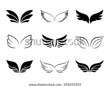 Wings Vector Set Stock Vector 135784631 Shutterstock
