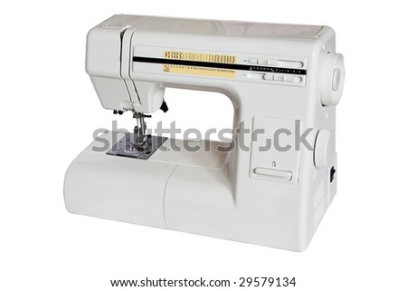sewing machine isolated on white background