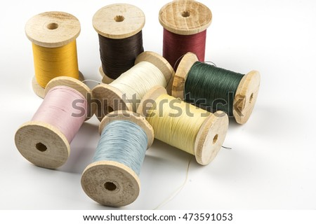 Sewing threads in several colors