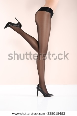 Sexy beautiful legs in pantyhose