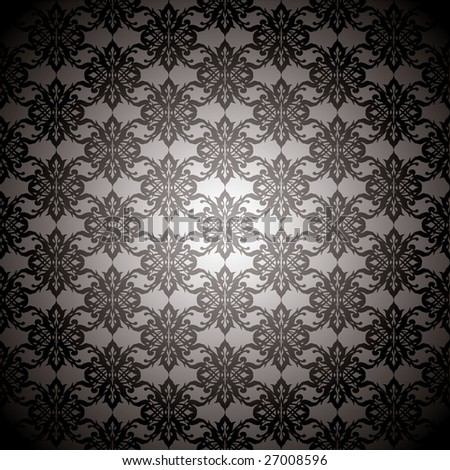 Sexy black and silver seamless repeating background design