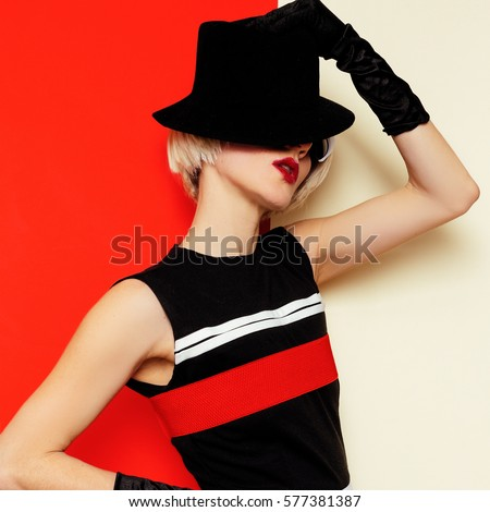 fashion portrait stylish on stock photo
