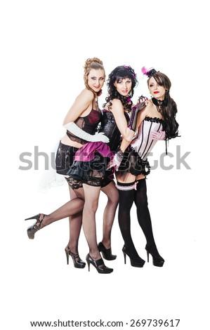 female rock band over posing together stock photo 119948425 shutterstock. Black Bedroom Furniture Sets. Home Design Ideas