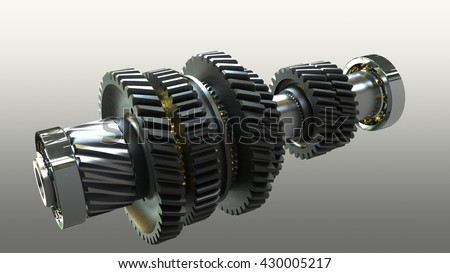 shaft gear - 3D rendering