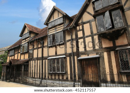 Shakespeare's house in Stratford upon Avon, England