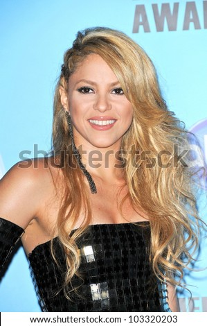 Shakira at the 2009 American Music Awards Press Room, Nokia Theater, Los Angeles, CA. 11-22-09