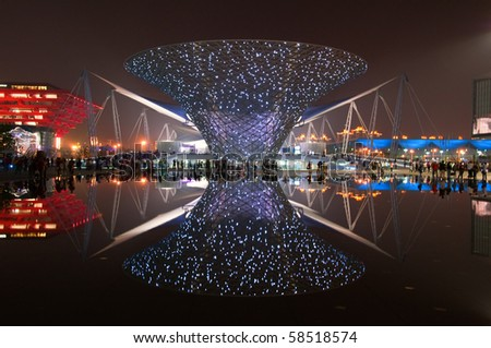 SHANGHAI - MAY 24: The Expo Boulevard in World Exposition on May 24, 2010 in Shanghai, China.