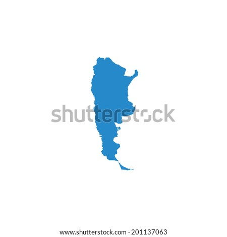 Illustrated Country Shape Argentina Stock Vector - Argentina map shape