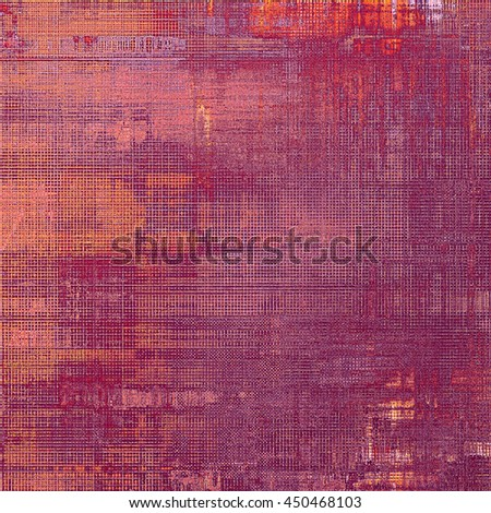 Sharp textured background, aged vintage backdrop with grungy style elements and different color patterns: yellow (beige); brown; gray; black; red (orange)