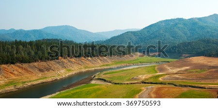 Shasta Lake suffering from one of California's severest droughts.