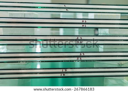 sheets of factory tempered clear float glass panels cut to size