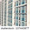 Shelf archive folder. 3d image. - stock photo