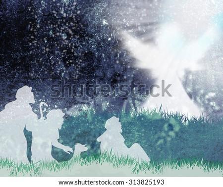 Shepherds Angel Silhouetteangel Announced Shepherds Birth – Angels Announce the Birth of Jesus