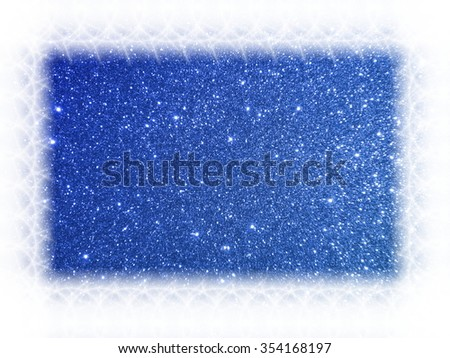 Shining glitters holiday bokeh background with white copy space