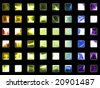 Shiny glass rainbow icons - stock photo