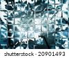 Shiny glass wall - stock photo