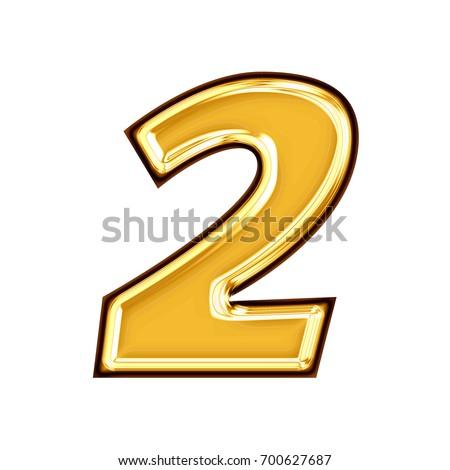 2 Number Gold Stock Vector 146095844 - Shutterstock