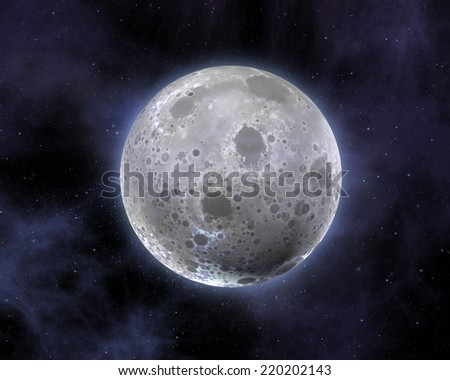 Shiny moon