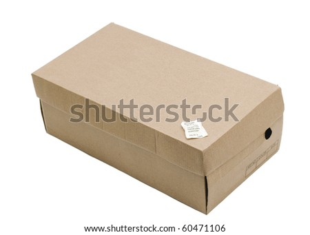 Shoe Box with silica gel isolated on white background