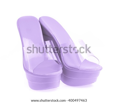 Shoes on a high heel for woman isolated on white background