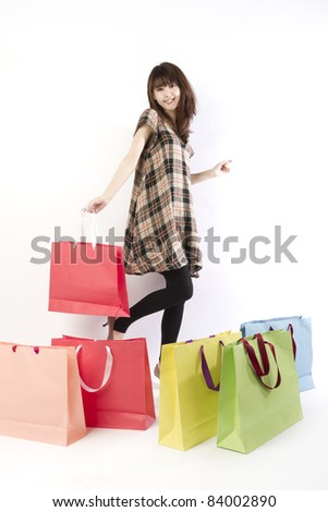 Shopping asian woman.