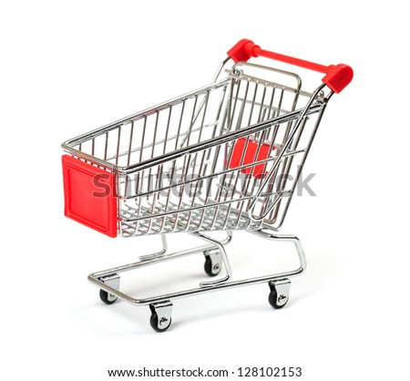 Shopping Cart with shadow isolated on white