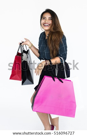 Shopping Female Smile Woman Lady Money Concept