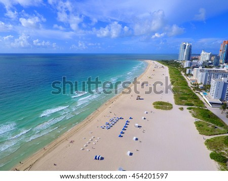 Shores of Miami Beach coastline