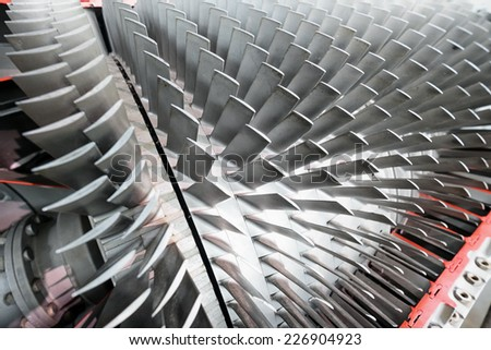 shovels of a turbine - nice background