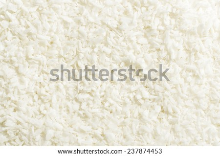 Shredded coconut shavings abstract texture background