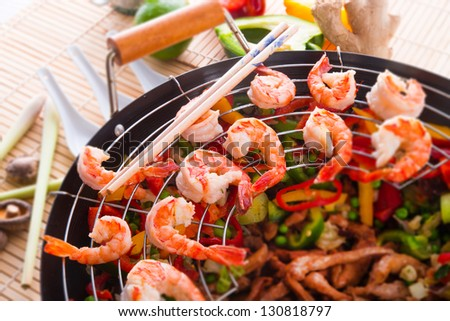 shrimp roast Indonesian