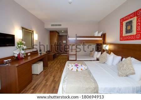 Attic Bedroom Low Ceiling Green Walls Stock Photo 82809796