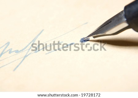 signature by fountain pen