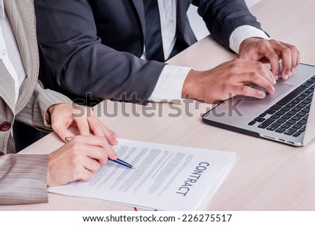 view boss talking job candidate stock photo 275823953 shutterstock