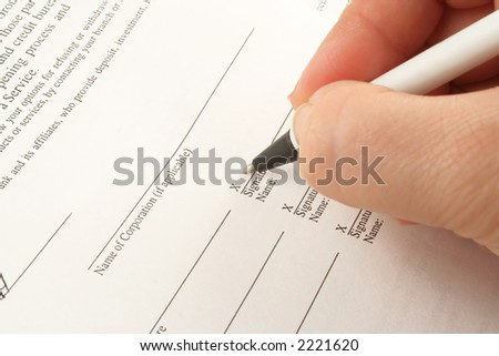 signing business banking statements for corporation or company